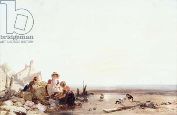 A Beach Scene, 1825 (oil on canvas)