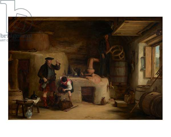 The Whiskey Still at Lochgilphead, 1819 (oil on panel)
