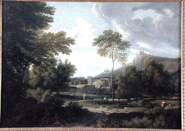 River Landscape (oil on canvas)