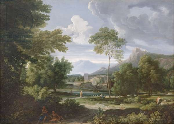 Landscape with the Falls of Tivoli (oil on canvas)