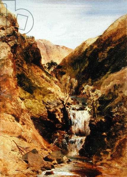 Highland Stream, or Highland Landscape, Glen Tilt (oil on canvas)