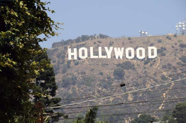 Hollywood Sign from Beechwood Drive in Hollywood Los Angeles (photo)