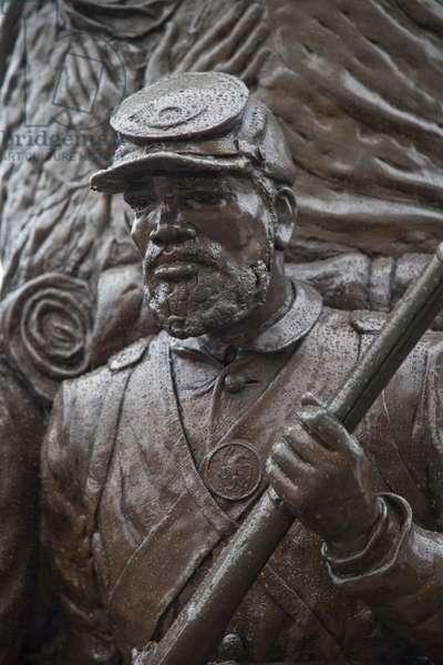 The African American Civil War Memorial at 10th Street and U Street (photo)