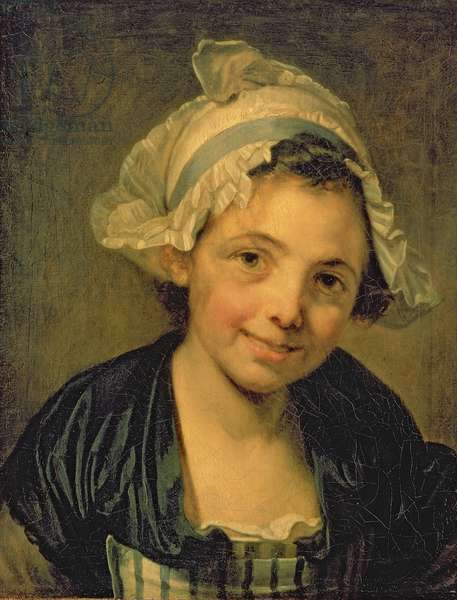 Girl in a Bonnet, 1760s (oil on canvas)
