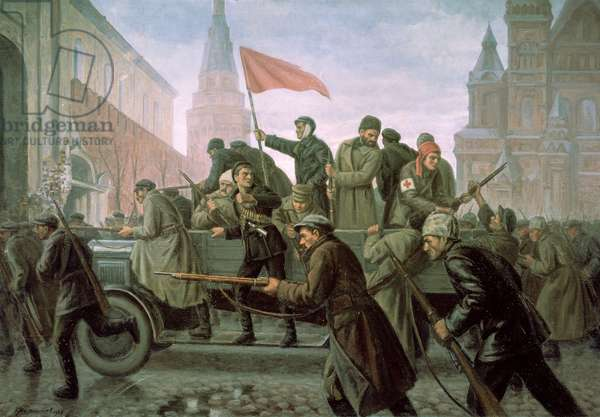 The Taking of the Moscow Kremlin in 1917, 1938 (oil on canvas)
