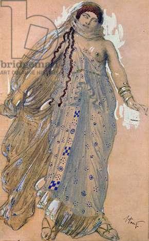 Phaedra, Costume design for the Euripides' drama 'Hippolytos', 1902 (w/c & oil on cardboard)