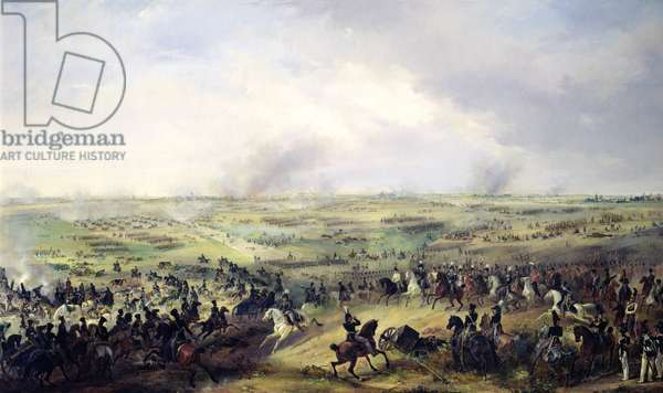 The Battle of Leipzig, 16-19 October 1813 (oil on canvas)