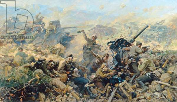 Fight at the Sapun Hill on May 7th 1944, 1947 (oil on canvas)