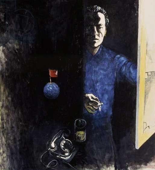 Self Portrait, 1970s (oil on canvas)