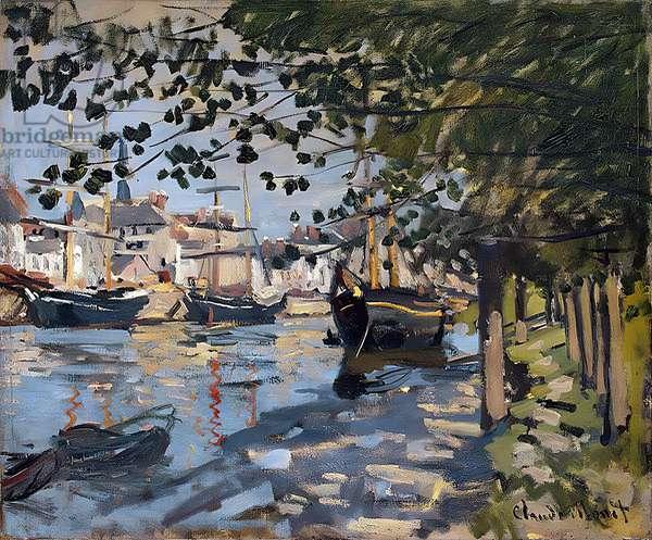 Seine at Rouen, 1872 (oil on canvas)
