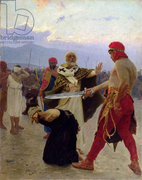 Saint Nicholas of Myra saves three innocents from death, 1890 (oil on canvas)