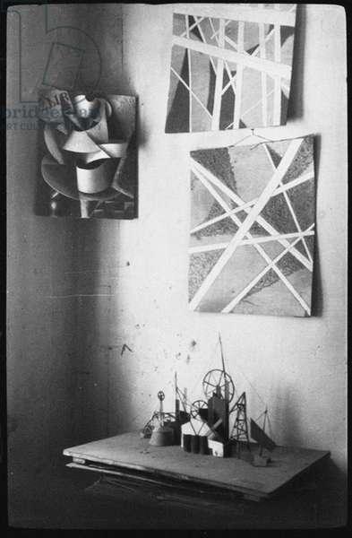 Akexander Rodchenko paintings, Lyubov Popova's Studio, 1924 (gelatin silver print)