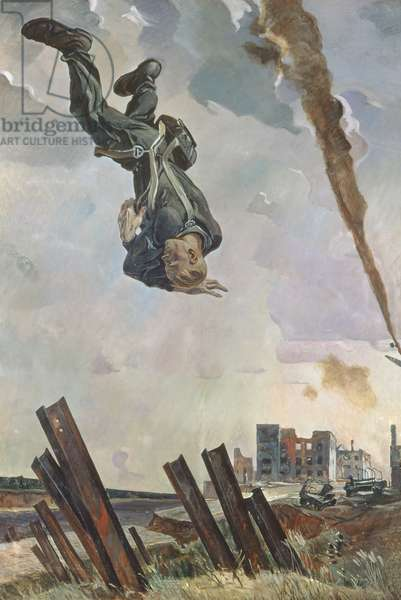 An Ace Shot Down, 1943 (oil on canvas)