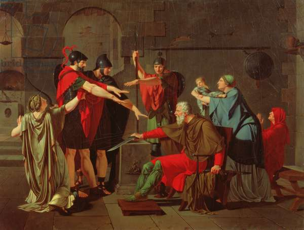 The Oath of the Horatii, 1791 (oil on canvas)