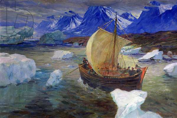 The Sea Crossing to Grumant (Svalbard), 1936 (oil on canvas)