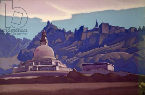Burial Mound, Ladakh, 1937 (tempera on canvas)