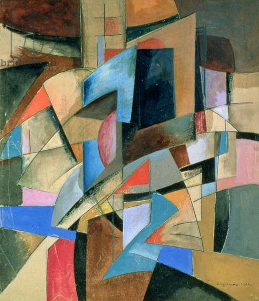 Composition, 1916 (gouache on paper)
