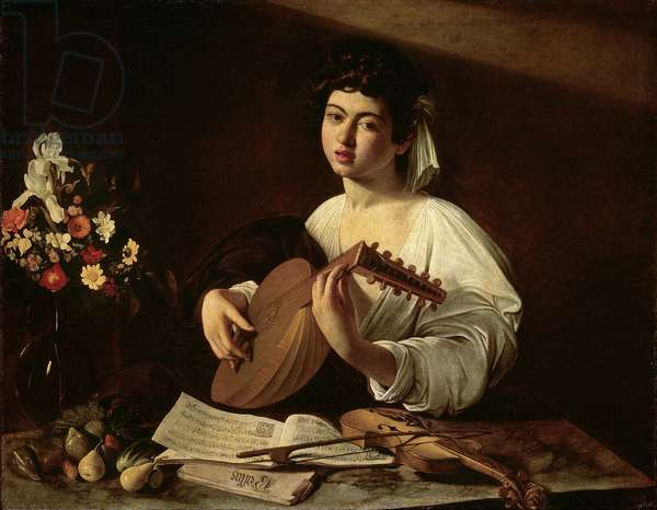 The Lute Player, c.1595 (oil on canvas)