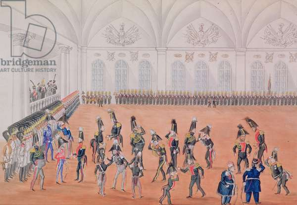 Guard Parade, 1820s (w/c on paper)