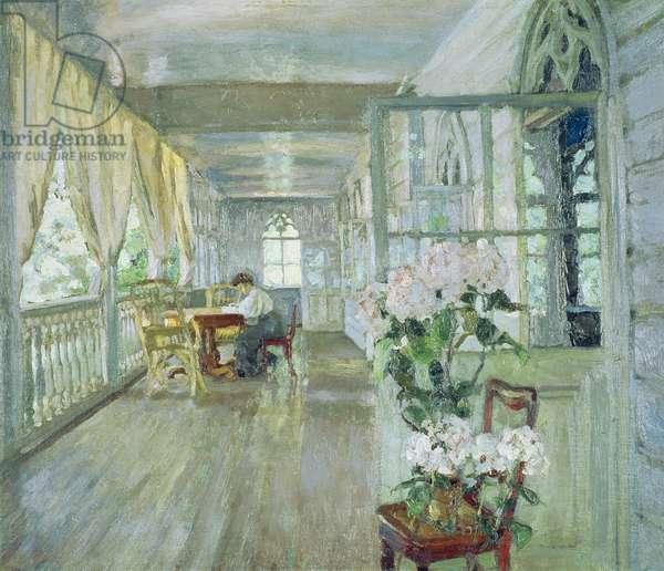 Manor House Terrace (oil on canvas)