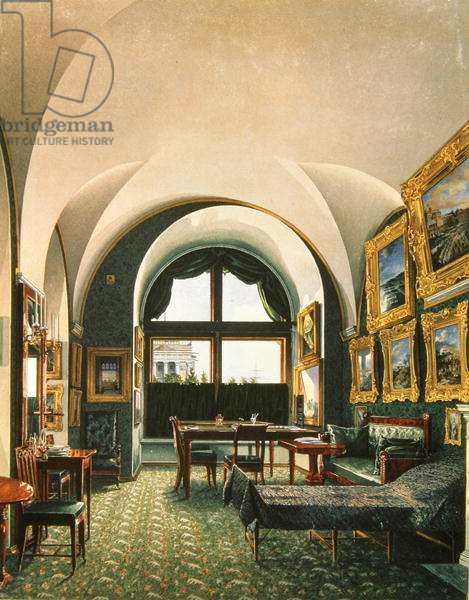 Interior of the Winter Palace, St. Petersburg (w/c on paper)