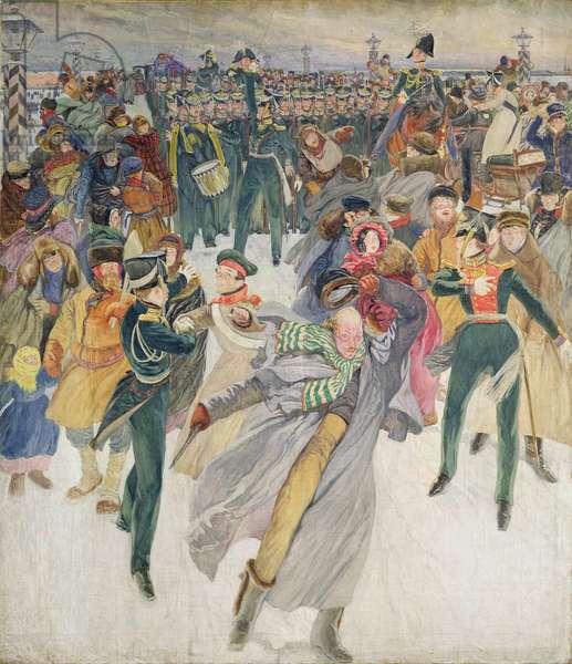 The Decembrist Revolt (tempera on canvas)