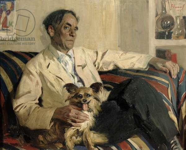 Portrait of Pyotr Leonidovich Kapitsa, 1958 (oil on canvas)
