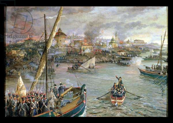 Capture of the Turkish Fortress, Izmail, 11th December 1790, 1953 (oil on canvas)