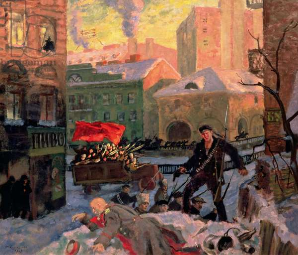 October 1917 in Petrograd (oil on canvas)