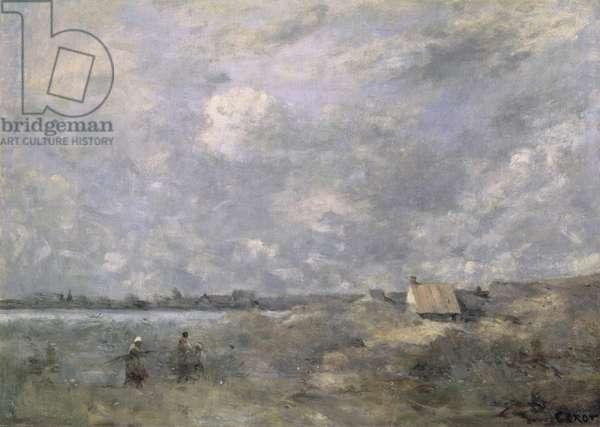 Stormy Weather, Pas de Calais, c.1870 (oil on canvas)