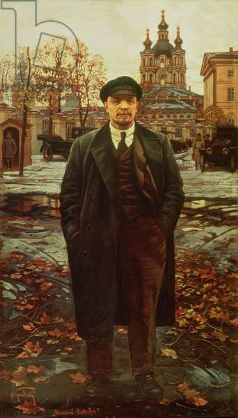 Vladimir Ilyich Lenin (1870-1924) at Smolny, c.1925 (oil on canvas)