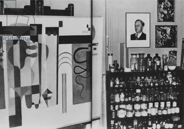 Kandinsky's Paris Atelier,  1944 (b/w photo)