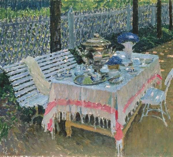 Morning Tea, 1917 (oil on canvas)