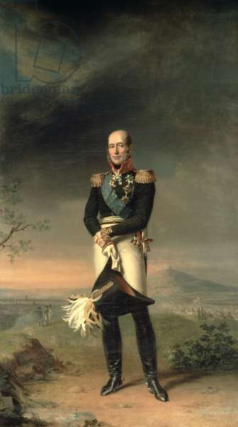 Portrait of Prince Mikhail Barclay de Tolly (1761-1818), 1829 (oil on canvas)