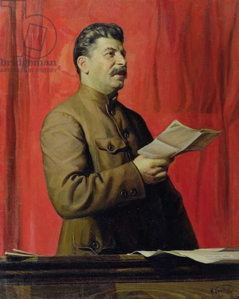 Portrait of Josif Stalin, 1933 (oil on canvas)
