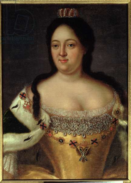 Portrait of Empress Anna Ioannovna (1693-1740) (oil on canvas)