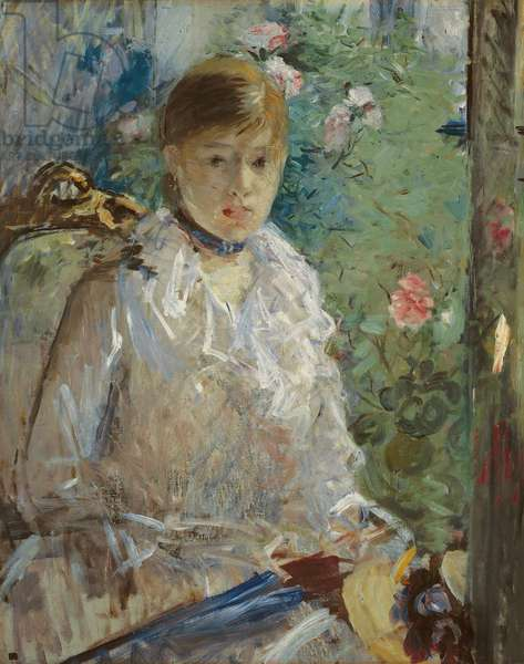 Young woman sitting in front of a window, called Summer, 1879 (oil on canvas)