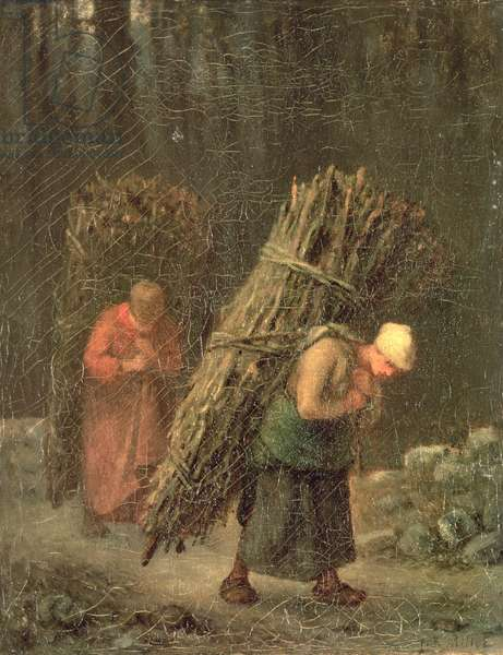 Peasant Women with Brushwood, c.1858 (oil on canvas)