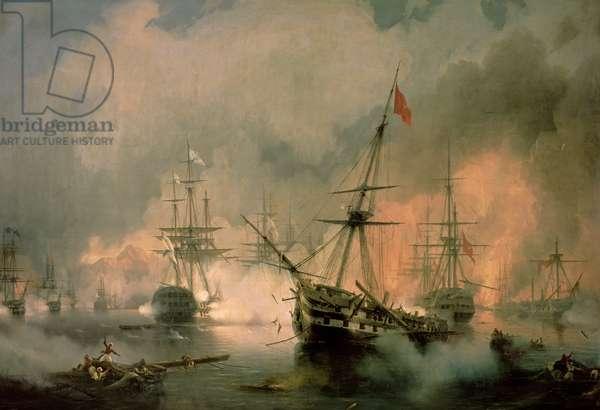 The Battle of Navarino, 20th October 1827, 1846 (oil on canvas)