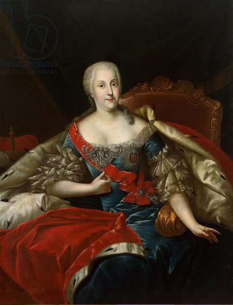 Portrait of Johanna-Elizabeth, Electress of Anhalt-Zerbst, c.1746 (oil on canvas)