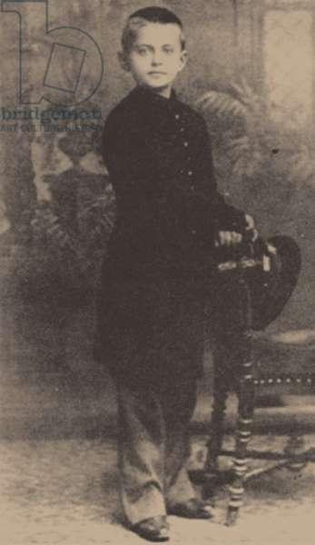 Leon Trotsky aged 9, 1888 (b/w photo)