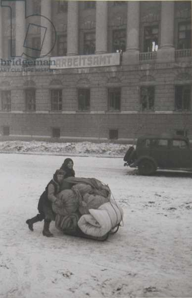 After the liberation of Rostov-on-Don, February 1943 (b/w photo)