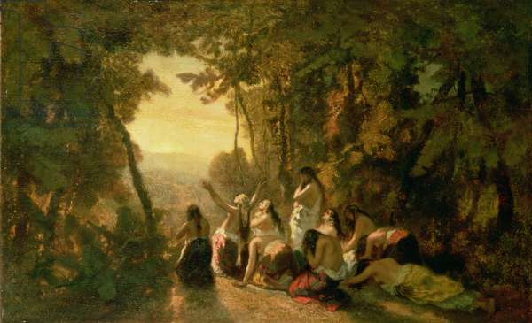 Weeping of the Daughter of Jephthah, 1846 (oil on canvas)
