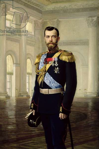Portrait of Emperor Nicholas II, 1900 (oil on canvas)