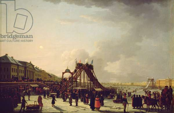 The rollercoasters on the Neva in St. Petersburg, 1803 (oil on canvas)