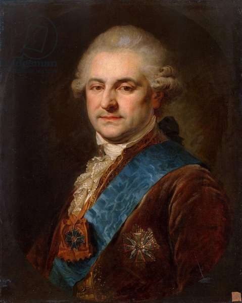 Portrait of Stanislaw II August Poniatowski (oil on canvas)