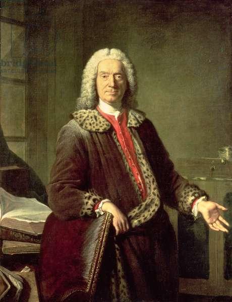 Portrait of Prosper Jolyot de Crebillon (1679-1762), 1746 (oil on canvas)
