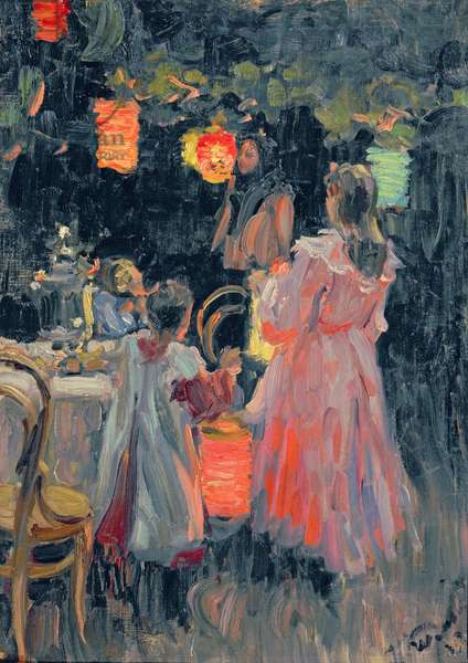 Chinese Lanterns, 1910 (oil on canvas)
