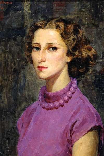 Portrait of Maya Plissetskaya, 1952 (oil on canvas)