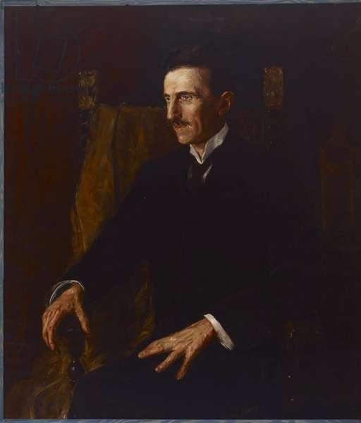 Blue Portrait of Nikola Tesla, 1916 (oil on canvas)
